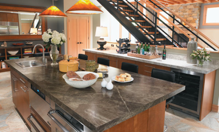 Formica countertops are very affordable and hold up well to constant ...